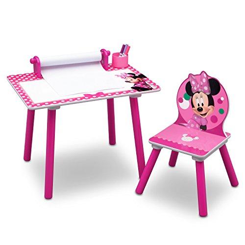 Newsbenessere.com 41t-EyXf%2BIL Delta Children Minnie Mouse Tavolo da Disegno, Rosa, Legno, 44.45x59.70x43.18 cm
