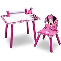 Delta Children Minnie Mouse Tavolo da Disegno, Legno, Rosa, 44.45x59.70x43.18 cm, 2 Unità