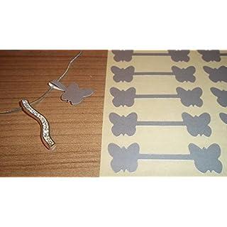150 Silber Schmetterling Form Schmuck Preis Sticker Hantelform