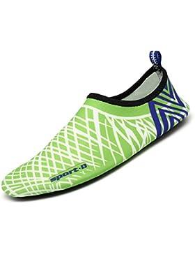 SAGUARO® Unisex Badeschuhe Sommer Aqua Schuhe Wassersport Schuhe Strandschuhe Schwimmschuhe für Damen Herren Kinder