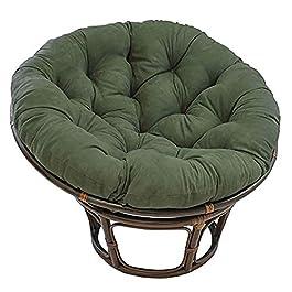 Coton Solide Papasan Patio Coussin De Siège Rond 52″ X 6″ X 52″ Rotin Coussin De Chaise en Osier Accueil Coussin De Sol Épais Nid Tapis-Vert Diamètre130cm(51inch)
