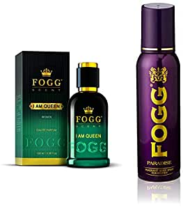 Fogg I Am Queen Scent For Women, 100ml and Fogg Fragrant Body Spray For Women, Paradise, 150ml
