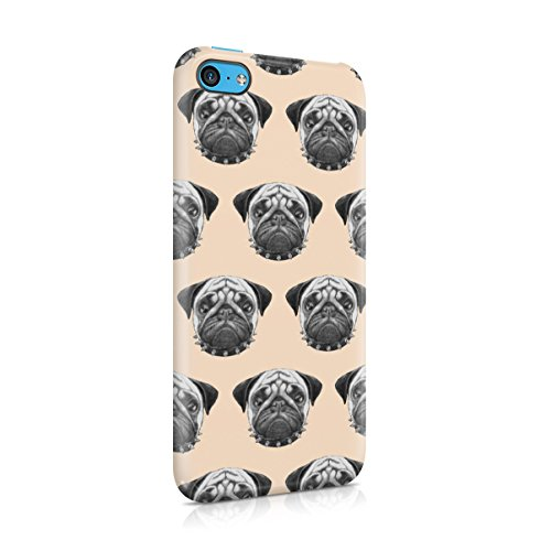 Pug Pattern Apple iPhone 5 , iPhone 5S , iPhone SE Snap-On Hard Plastic Protective Shell Case Cover Custodia Pugs Pattern