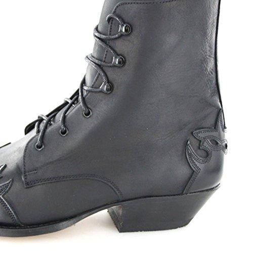 Sendra boots 11699 western schnürstiefelette bottines pour femme (plusieurs coloris) Noir