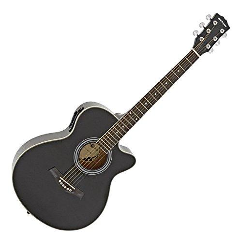Single-Cutaway Elektroakustikgitarre von Gear4music schwarz