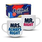 Gifffted Tazze Coppia da tè E Caffe, Mr E Mrs Always Right, Regali per Le...
