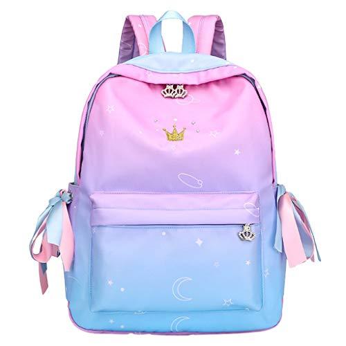 SCEMARK Damen Pu Leder Mini Schulrucksack Mode Crystal Crown Travel School Schulter Handtasche Rucksack Wasserabweisend Taschen Multifunktionaler Ausflug Tasche