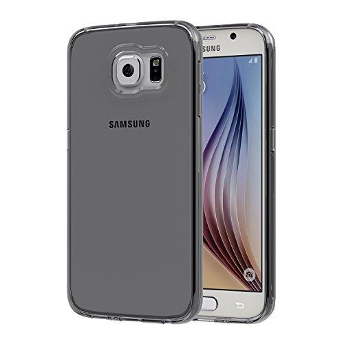 Azorm Handyhülle für Samsung Galaxy S6, Crystal Edition Smartphone Hülle TPU mit Displayschutz und Mikrofasertuch, Schutzhülle Anti-Rutsch und Kratzfest - Transparent Smoke (Silikon)