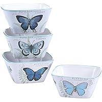 Certified International 2 Assorted Designs Tuileries Garden Ice Cream Bowls