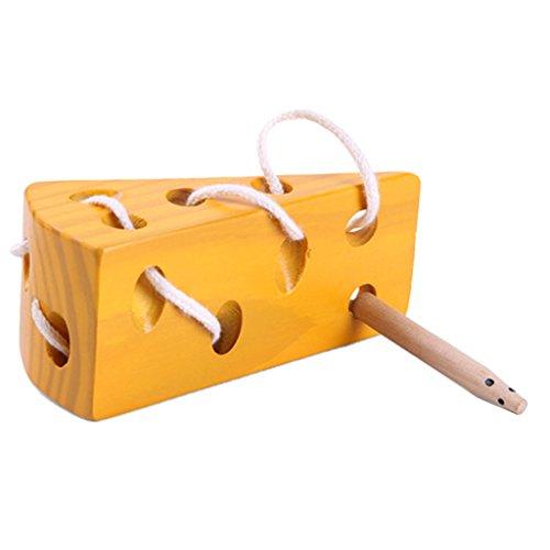 Sharplace Kinder Montessori Spielzeug - Käse Spielzeug Schnürung Spiel - Geschenk für Baby Kleinkind Vorschulkinder - String-käse