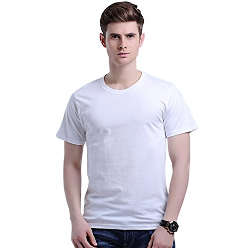 honghu-mens-solid-color-cotton-simple-t-shirt-size-2xl-white