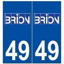 49 Brion logo autocollant plaque stickers ville - droits
