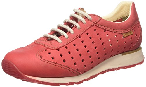 El Naturalista Walky, Baskets Basses Femme Rouge - Groseille