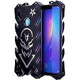 "Huawei Y9 (2019) Case, BINGRAN Luxury [Vulcan Series] Hollow Design Full Signal Aviation Aluminum Metal Hard Rugged Strong Protection Case Cover for Huawei Y9 (2019)/Enjoy 9 Plus 6.5"" Black"