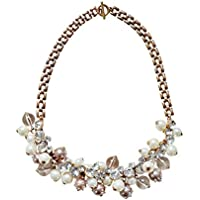 Happiness Boutique Collana Statement Perle | Collana XXL Fashion Catenina Vintage Oro senza nickel e senza