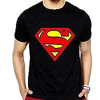 Superman Black Round Neck T-Shirt For Unisex