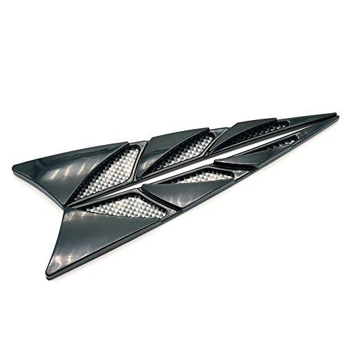 Preisvergleich Produktbild well-Goal 1 Paar Universal-Simulation Carbon dekorative Auto SUV LKW Bonnet Hood Air Flow Intake Turbo Side Vent Cover, Schwarz