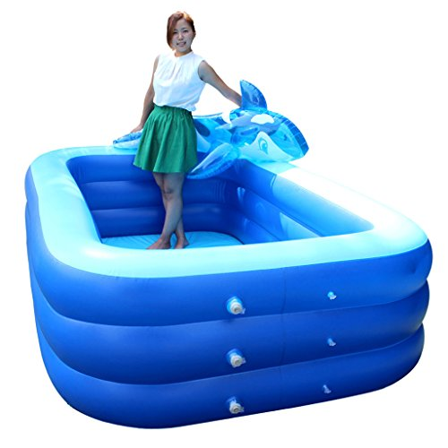 Gxf1222 GXF Jacuzzi Piscina Inflable Square Bath Barril Adult Bath Thickening High Family Pool Baño para Niños Pequeños