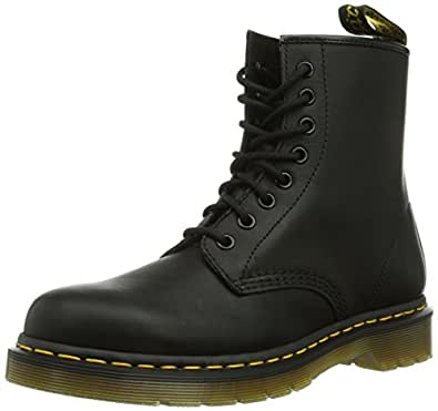 Dr. Martens 1460, Boots mixte adulte - Noir (Black Greasy), 37 EU (4 UK)