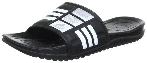 adidas Performance Mungo QD, Unisex-Erwachsene Dusch- & Badeschuhe, Schwarz (Black 1/White/Metallic Silver), 46 EU (11 Erwachsene UK)