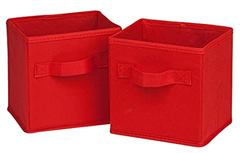 Honey-Can-Do International Mini-cubes en tissu Non pliables Rouge Lot de 2