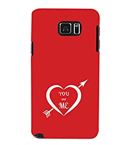 EPICCASE you and me Mobile Back Case Cover For Samsung Galaxy Note 5 (Designer Case)
