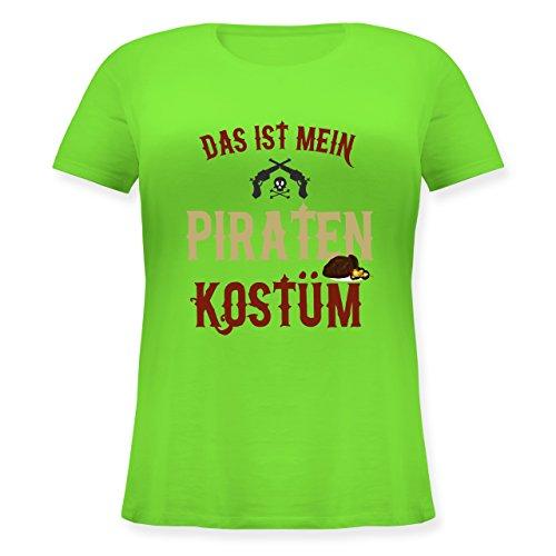 (Karneval & Fasching - Das ist Mein Piraten Kostüm - L (48) - Hellgrün - JHK601 - Lockeres Damen-Shirt in großen Größen mit Rundhalsausschnitt)