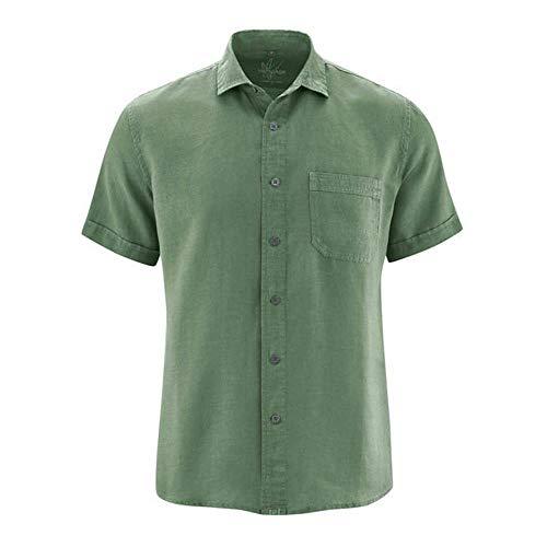 100% Hanf (HempAge Herren 100% Hanf Kurzarmhemd, Farbe: herb, Gr.: XXL)