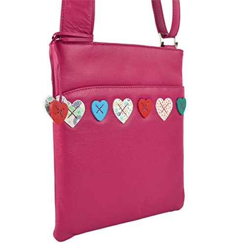 Mala Leather, Borsa a tracolla donna Rosa (rosa)