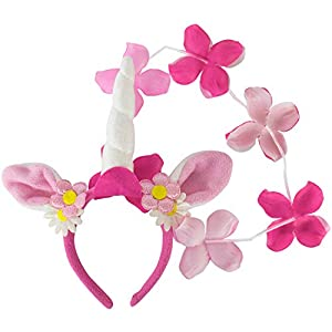Folat 8714572650519 Tocado para Disfraz Infantil - Tocados para Disfraces Infantiles (Feria, Rosa, Púrpura, Blanco, Unicorn Tiara, 1 Pieza(s))