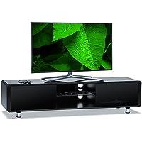 "Centurion Supports CAPRI Gloss Black with Black Sides Beam-Thru Remote Friendly 32""-65"" Flat Screen TV Cabinet"