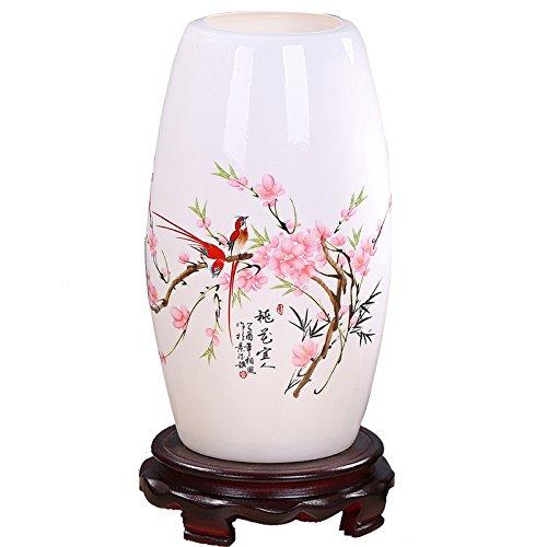 Von Hand Bemalt, Sind Mit Schreibtischen (Hand bemalte Porzellan Tischleuchte Chinesische Retro Nachttischlampe Schlafzimmer Wohnzimmer Tischlampe Deko Licht)