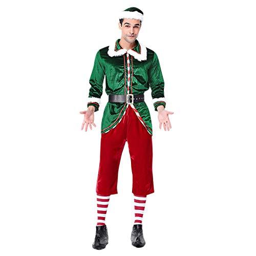 Petalum Weihnachten Kostüm Elfenkostüm Unisex Erwachsene Kinder Weihnachten Kostüm Klein Kind Jungen Mädchen Familien Elf Outfit Weihnachten Halloween Kostüm