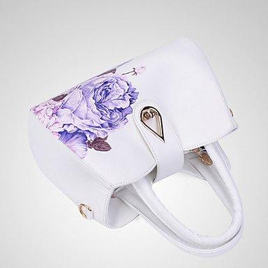 Ladies'Leisure und neue Blume One-Schulter Bag Handtasche Wine