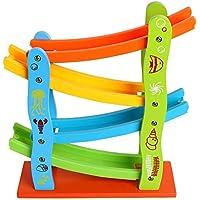 Preisvergleich für elecfan Wooden Spielzeugauto Modell, Baby Kinder Spielzeug Pädagogisches Modell Kleines Spiele-Center ALS Geschenk für Kinder Jungen
