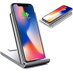 LEMEGO Chargeur sans Fil Qi Pliable Chargeur à Induction Rapide Station de Charge Portable pour Galaxy S8 / S8 Plus / S9 / S9 Plus, Galaxy S6 / S6 Edge / S7 / S7 Edge, Autres Smartphones Qi, etc