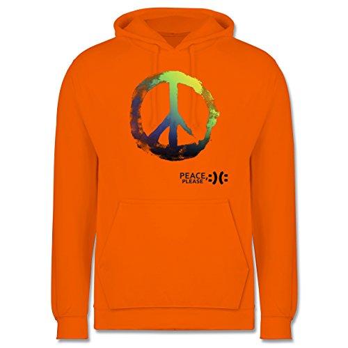 Statement Shirts - Frieden, bitte - Peace, please - Peacesymbol bunt - Männer Premium Kapuzenpullover / Hoodie Orange