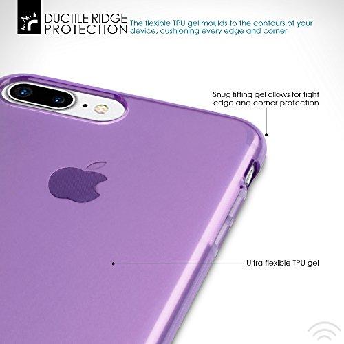 Terrapin TPU Gel Custodia per iPhone 8 Plus / iPhone 7 Plus Case, Colore: Giallo Trasparente Porpora