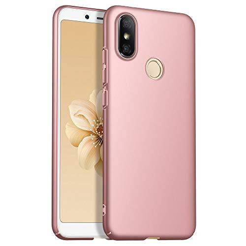 TVVT Funda para Xiaomi Redmi S2, Ultra-Delgado Ligera Dura PC Carcasa Mate Plastico Rígido Protectora con Anti-Rasguños Anti-Choque Case Cover - Oro Rosa