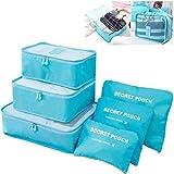 Best Cubes d'emballage de Voyage - 6ensembles de voyage d'emballage Cubes organisateurs avec sac Review