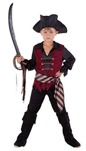 Piraten Für Jungen Karibik Kostüm Der - Magicoo Karibischer Kapitän Piratenkostüm Kinder - Faschingskostüm Pirat Kostüm Jungen (140/150)