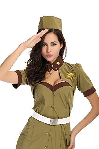 SEXY ARMY GIRL Gr. 36 (Army Girl Kostüm Halloween)