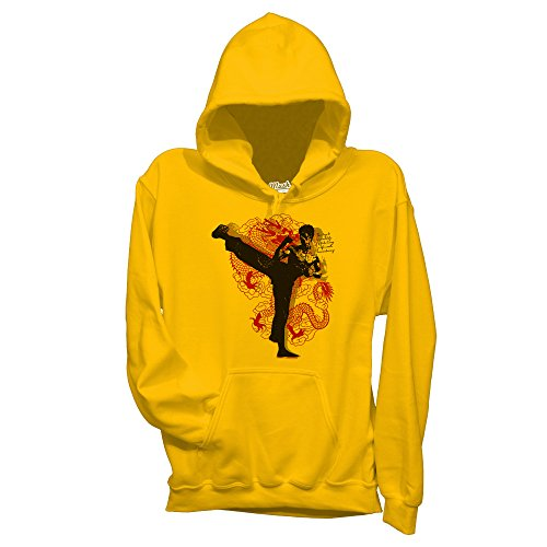 Felpa BRUCE LEE DRAGON AND QUOTES - FILM by Mush Dress Your Style Gialla