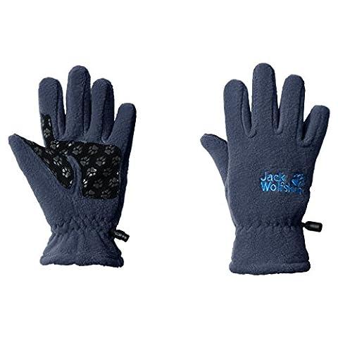Jack Wolfskin Kinder Fleece Glove Kids Handschuhe, Dark Sky, 140