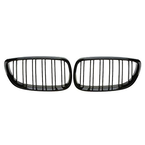 ELENXS 1 Paire Gloss Black Double Ligne Grille Kidney pour BMW E92 E93 Coupé Cabriolet 06-09