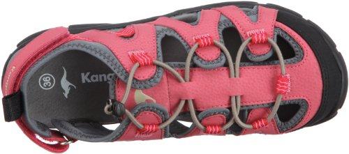 KangaROOS Cornelius 11083 Unisex-Kinder Sandalen, Pink (pinkyboo/sand/charcoal 612), EU 37 -
