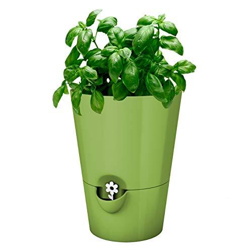 Emsa Herb Pot pour herbes fraîches: diamètre 13 cm - Vert clair