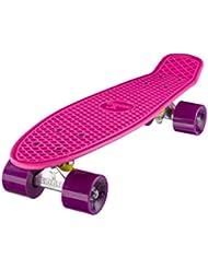 """Ridge Retro Cruiser 22"""" - Skateboard, color rosa / morado, 58 cm"""