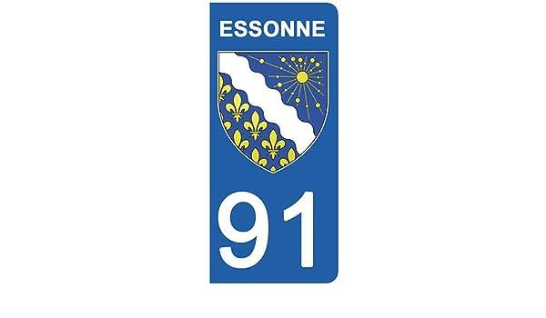 57 Moselle Stickers Garanti 5 Ans DECO-IDEES 1 Sticker pour Plaque dimmatriculation Moto Nos Stickers sont recouvert dun pelliculage de Protection sp/écifique