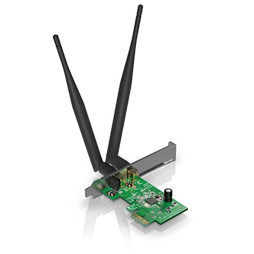 CSL - 300Mbps Wireless PCIe Netzwerkkarte | PCI-Express Schnittstelle/Adapter | WPA/WPA2 / WPA-PSK/WPA2-PSK | Windows 10 fähig